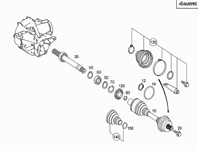 Tipps-tricks | Mercedes E-Klasse (w211) | Antriebswellenmanschette erneuern: Bild 0