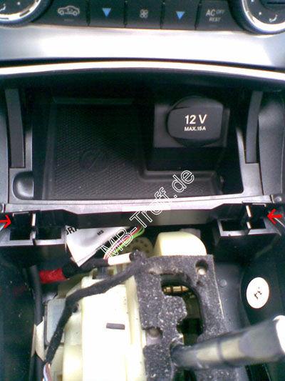 Mercedes A Klasse Radio Klammern