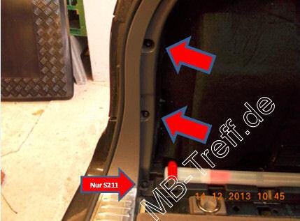 Tipps-tricks | Mercedes E-Klasse (w211) | Elektrische Kofferraumabdeckung fährt nicht mehr hoch: Bild 2